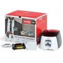 EVOLIS Badgy Imprimante Badgy200 + 1 ruban couleur 100 impressions + 100 cartes PVC épaisses + logiciel Badge Studio+