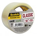 SCOTCH Ruban d'emballage Classic en polypropylène transparent 41 microns, format 50 mm x 50 m