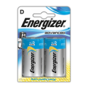 ENERGIZER Blister de 2 piles D LR20 Advanced