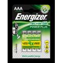 ENERGIZER Blister de 4 piles AAA LR03 Power plus rechargeable 700 mAh