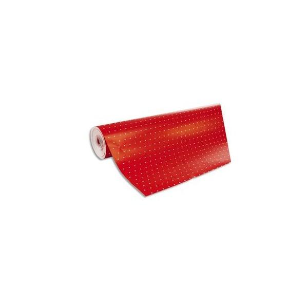 CLAIREFONTAINE Rouleau de papier cadeau Alliance 80g. Spécial commerçant : 50 m x 0,7 Mm. Rouge pois blanc (photo)