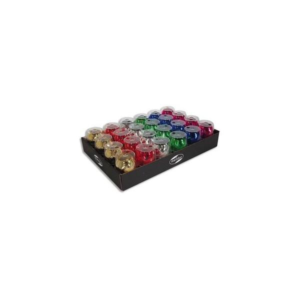 CLAIREFONTAINE Plateau de 24 bolducs œufs brillant 10 m x 7 mm. 6 coloris classiques assortis (photo)