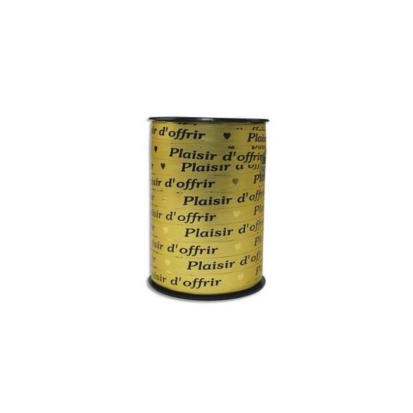 CLAIREFONTAINE Bobine bolduc de comptoir 250 x 0,7 m. Coloris or Plaisir d'offrir (photo)