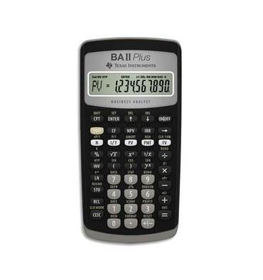 TEXAS INSTRUMENTS Calculatrice financière à 10 chiffres, BA-II-PLUS, coloris noir