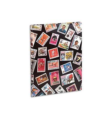 EXACOMPTA Album pour timbres (9 bandes / 16 pages). Non rechargeable. 30,5 x 22,5 cm. Couverture jeunesse Sport