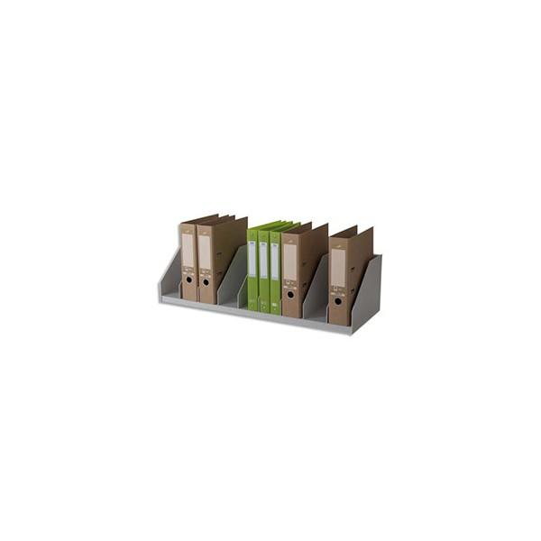 PAPERFLOW Trieurs 10 cases fixes pour classeurs à levier standard - 89,7 x 21 x 29 cm gris