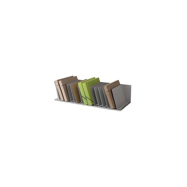 PAPERFLOW Trieurs 20 cases fixes inclinées pour documents A4 - 111,5 x 20,6 x 31 cm, case L4,5 cm gris