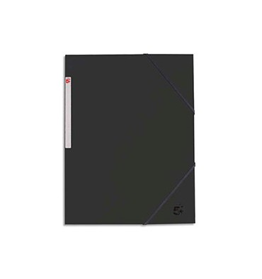 5 ETOILES Chemise 3 rabats et élastique en carte noir