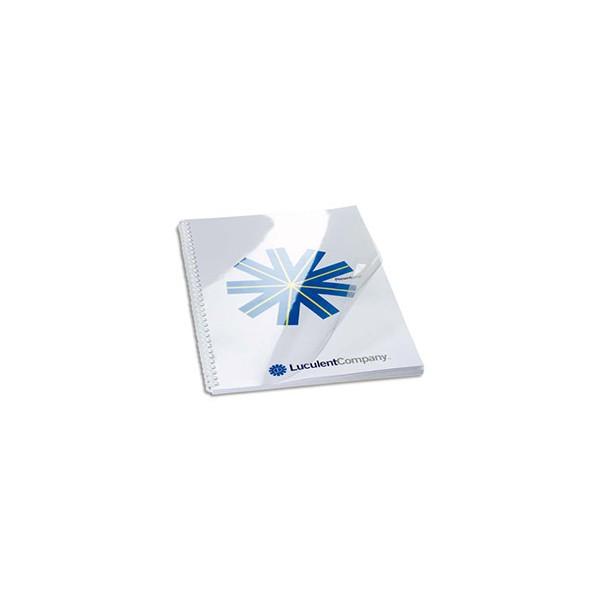 FELLOWES Boîte de 100 plats de couvertures PVC A4 200 microns
