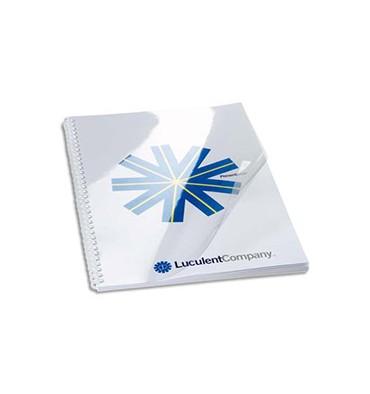 FELLOWES Boîte de 100 plats de couvertures PVC A4 240 microns