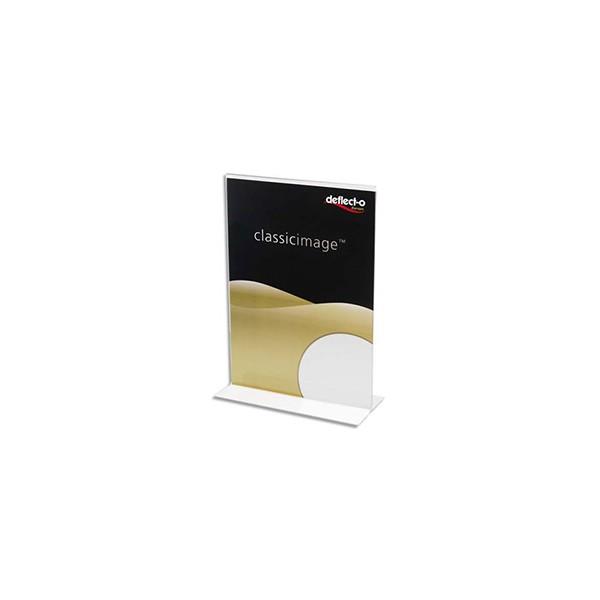 DEFLECTO Porte-affiche transparent pour documents A4 portrait droit transparente