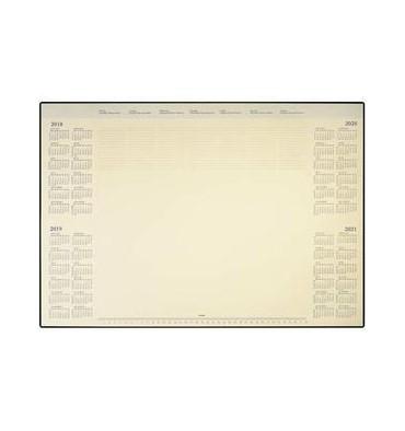 BREPOLS Sous-main deskmate 40 feuilles papier ivoire, 41 x 52 cm en PVC noir