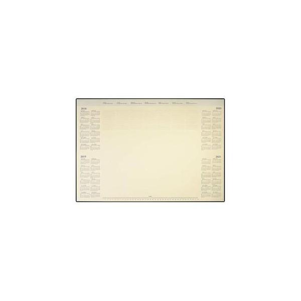 BREPOLS Sous-main deskmate 40 feuilles papier ivoire, 41 x 52 cm en PVC noir c69bb9f80f68