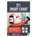 OXFORD - Bloc pour les réunions Smart Chart connecté 60 pages unies, 65 x 100 cm