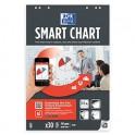 OXFORD - Bloc pour les réunions Smart Chart connecté 60 pages unies. Format 65 x 100 cm