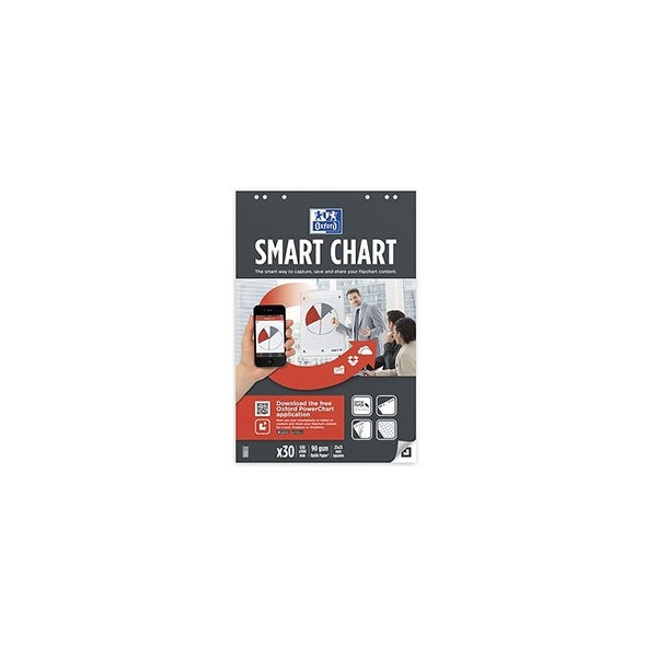 OXFORD Bloc pour les réunions Smart Chart connecté 60 pages carreaux, 65 x 100 cm (photo)