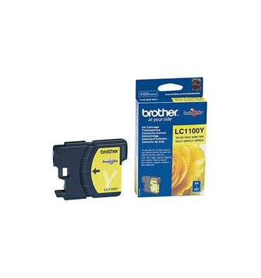 BROTHER Cartouche jet d'encre jaune LC1100Y