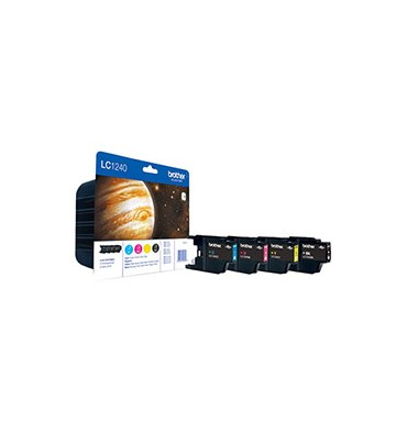BROTHER Value Pack jet d'encre 4 couleurs LC1240VALBP