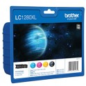 BROTHER Cartouches value pack jet d'encre 4 couleurs MP (cyan / magenta / jaune / noir) LC1280XLVALBP