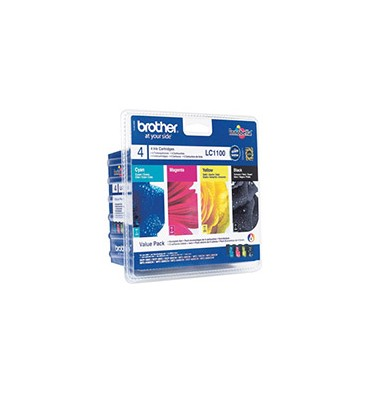BROTHER Value Pack jet d'encre N/C/M/J LC1100VB1P