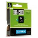 DYMO Ruban D1 Noir / Blanc 9 mm x 7 m - 40913