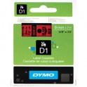 DYMO Ruban D1 Noir / Rouge 9 mm x 7 m - 40917