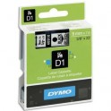 DYMO Ruban D1 Noir / Transparent 9 mm x 7 m - 40910