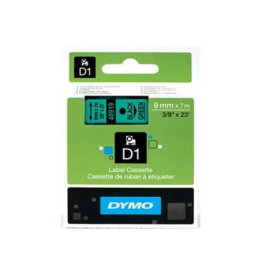 DYMO Ruban D1 Noir / Vert 9 mm x 7 m - 40919