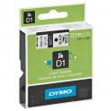 DYMO Ruban D1 Noir / Blanc 12 mm x 7 m - 45013