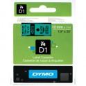 DYMO Ruban D1 Noir / Vert 12 mm x 7 m - 45019