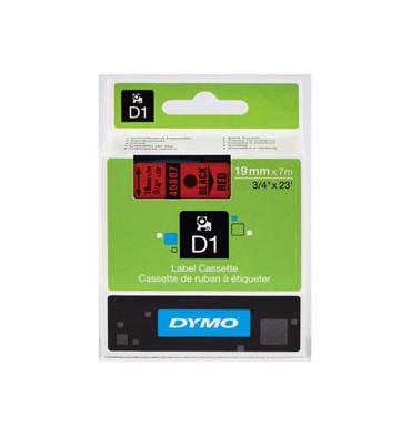 DYMO Ruban D1 Noir / Rouge 19 mm x 7 m - 45807