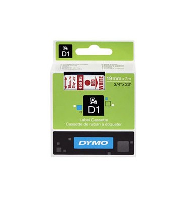 DYMO Ruban D1 Rouge / Blanc 19 mm x 7 m - 45805
