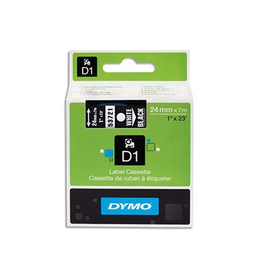 DYMO Ruban D1 poly Blanc / Noir 24 mm x 7 m - 53721