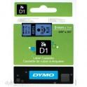 DYMO Ruban D1 Noir / Bleu 9 mm x 7 m - 40916