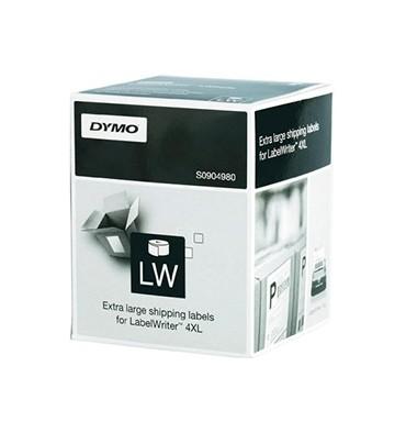 DYMO Rouleau de 220 étiquettes larges adhésif permanent pour 4XL 104 x 159 mm S0904980