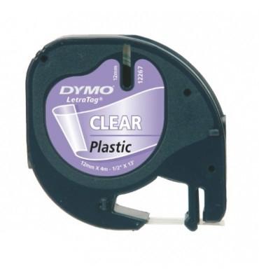 DYMO Ruban LETRATAG Noir / Transparent 12 mm x 4 m - 12267