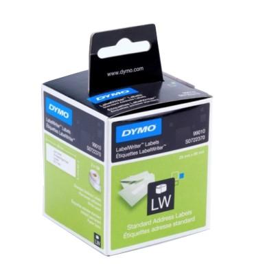 DYMO Pack de 2 rouleaux de 130 étiquettes adresse adhésif permanent 28 x 89 mm - 99010