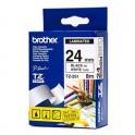 BROTHER Ruban pour PTouch laminé Noir / Blanc 24 mm x 8 m - TZe251