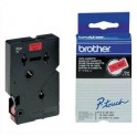BROTHER Cassette Ruban TC Noir / Rouge 12 mm x 7,7 m - TC401
