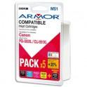 ARMOR Pack de 5 cartouches jet d'encre Canon PGI-550 XL / CLI 551 XL
