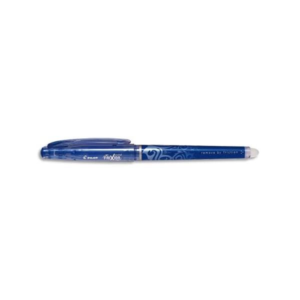 PILOT Roller FRIXION POINT, pointe hi-tec fine, s'efface à la gomme en bout de stylo, coloris bleu