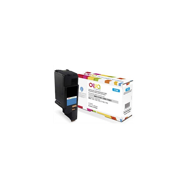 OWA BY ARMOR Cartouche toner laser compatible DELL cyan 593-11141 / 593-11021