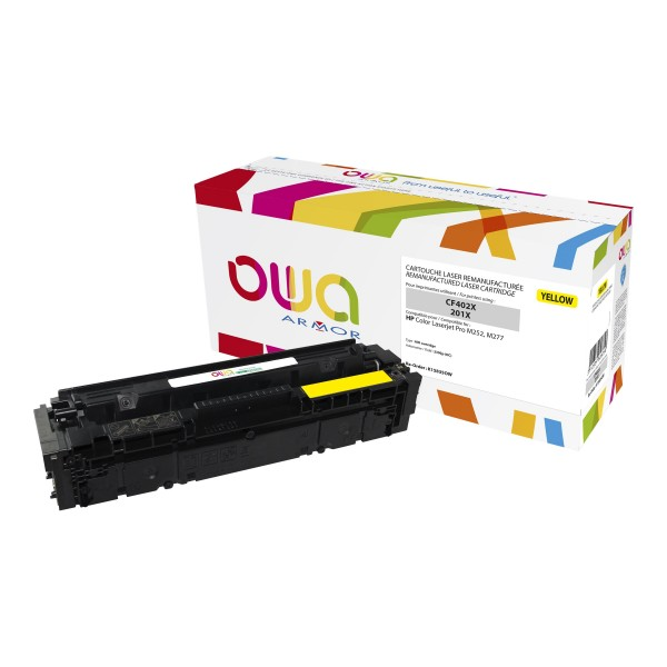 OWA BY ARMOR Cartouche toner laser jaune compatibilité HP CF402X / 201X