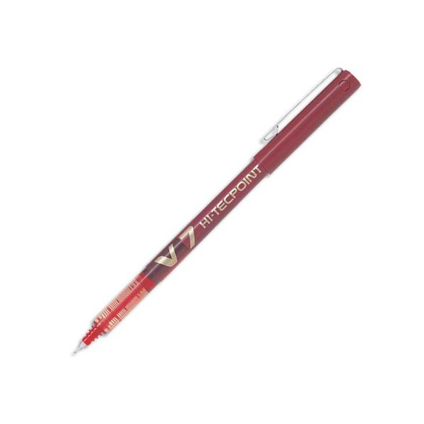 PILOT Stylo roller pointe tubulaire 0,7 mm encre liquide rouge HI-TECPOINT BX-V7