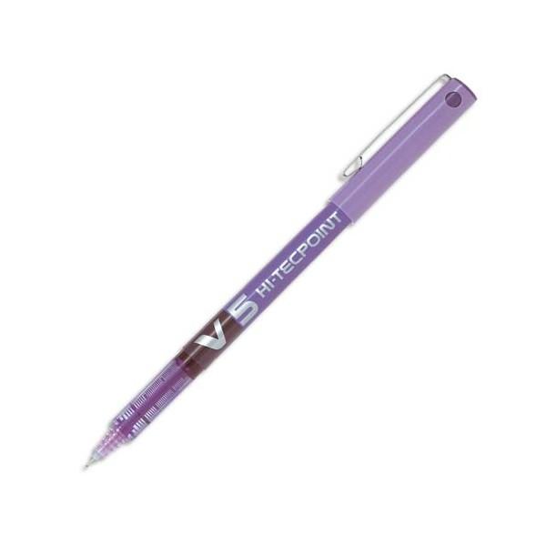 PILOT Stylo roller pointe tubulaire 0,5 mm encre liquide violet HI-TECPOINT BX-V5