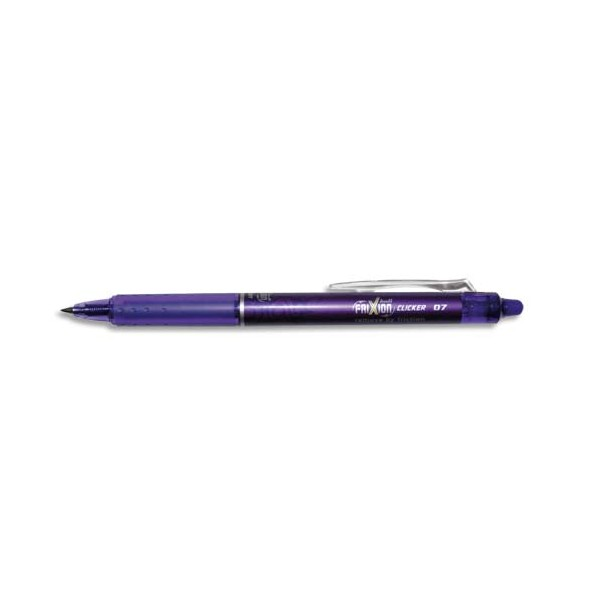 PILOT Roller Frixion Clicker rétractable, pointe moyenne violet