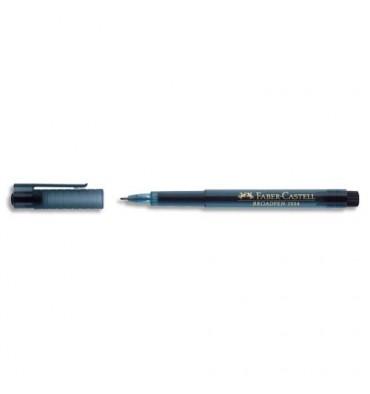 FABER CASTELL Stylo feutre noir indélébile à pointe large 0,8 mm, corps à la couleur de l'encre