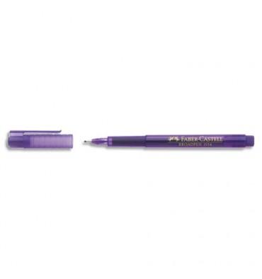 FABER CASTELL Stylo feutre violet indélébile à pointe large 0,8 mm, corps à la couleur de l'encre