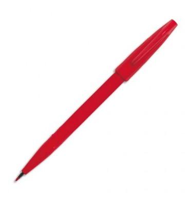 PENTEL Stylo feutre pointe en nylon largeur de trait 0,8 mm encre rouge SIGN PEN S520