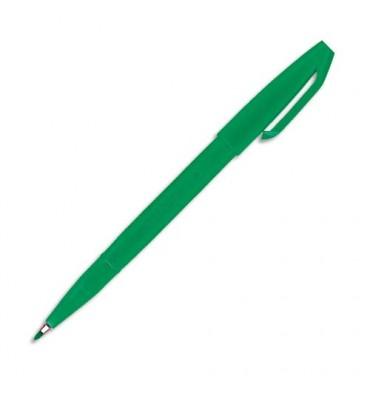 PENTEL Stylo feutre pointe en nylon largeur de trait 0,8 mm encre verte SIGN PEN S520